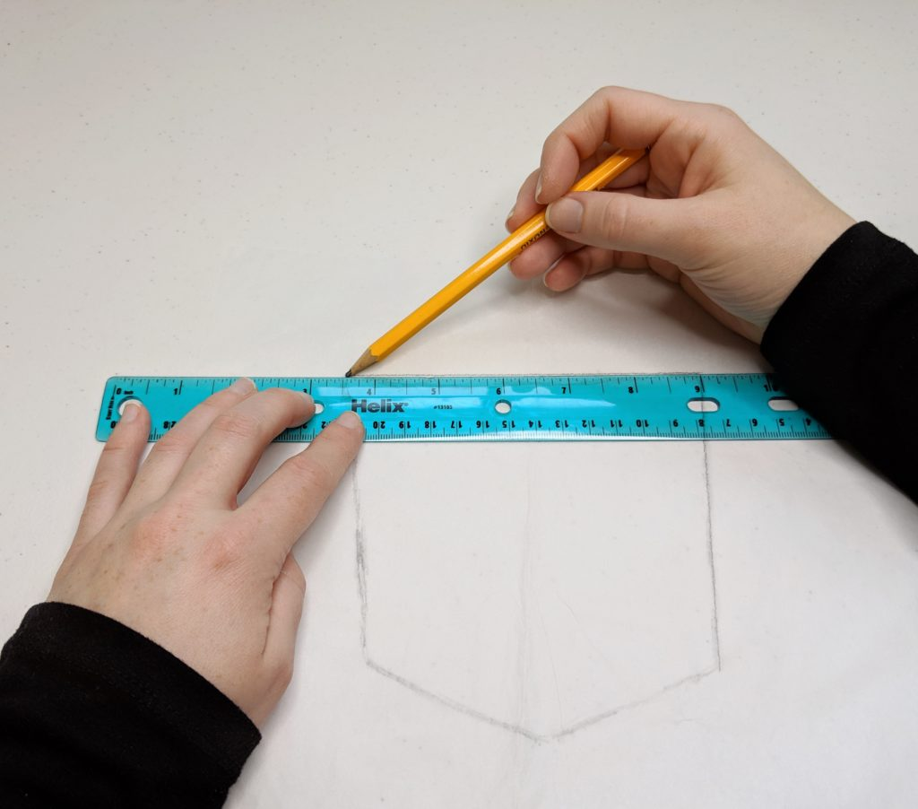 straightening traced lines with a ruler