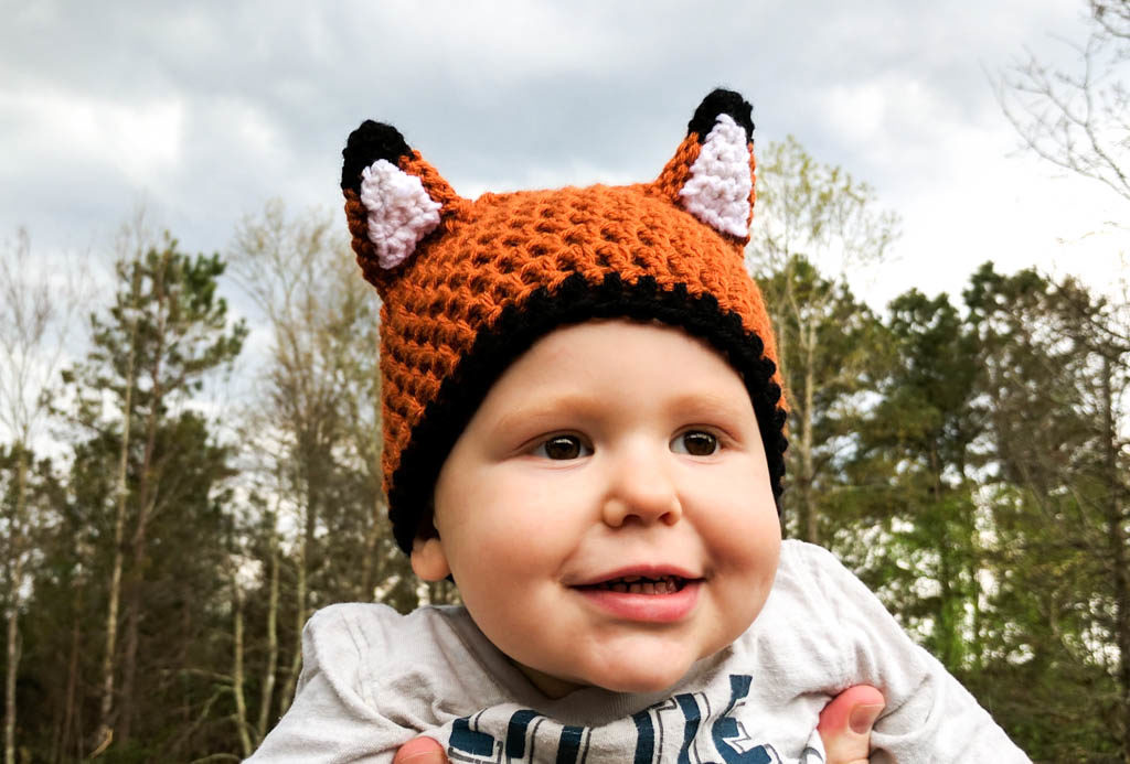 Crochet Woodland Fox Hat baby toddler child adult pattern PATTERN ONLY